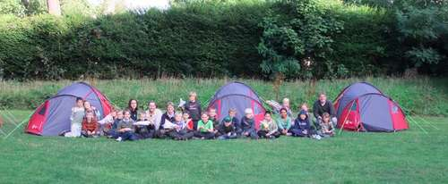 Cubs Camping with their new tents